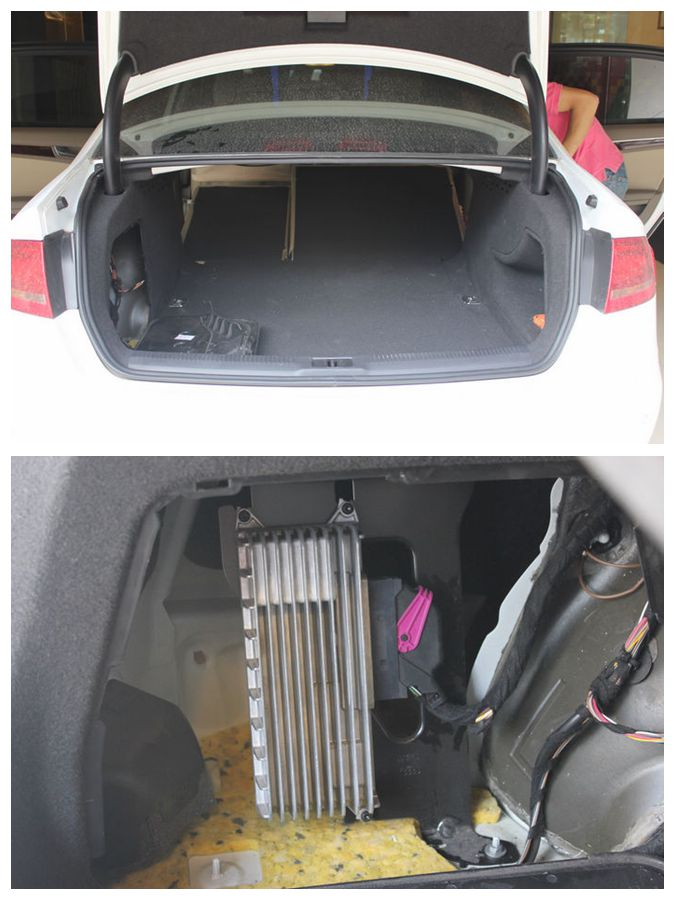 重庆奥迪A4L音响改装 美国钻石低音 狮龙隔音高清图片