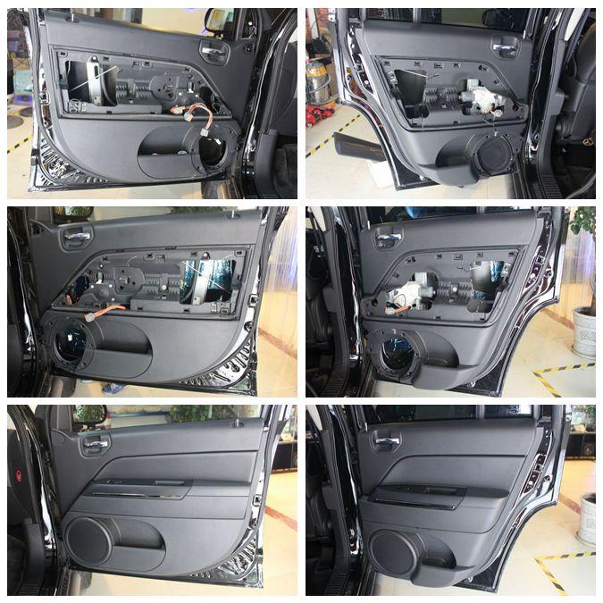 重庆鎏声岁月jeep 指南者音响改装 指南者胎噪隔音处理工程高清图片