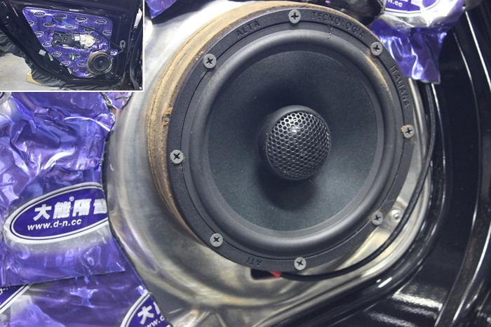 奔驰E320音响改装升级 意大利ATI精巧6.0同轴喇叭