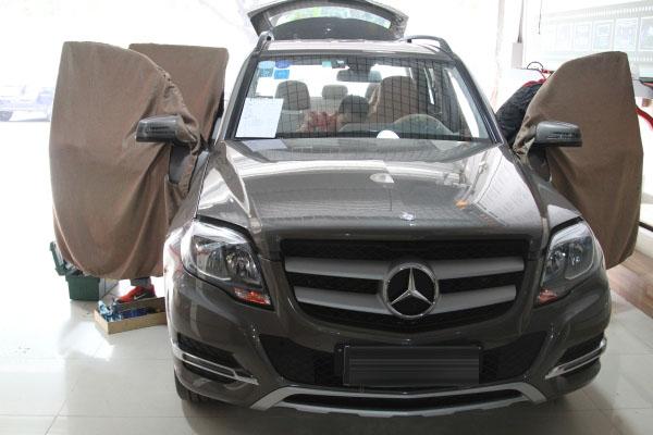 重庆道声汽车音响改装-奔驰GLK300音响改装芬朗RE6.3CF+隔音升级作业