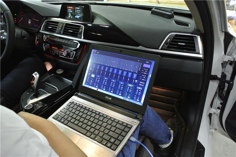 重庆道声宝马320li音响改装升级全套雷贝琴音响设备